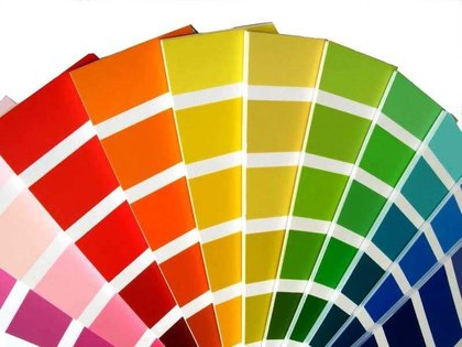 Kleurkeuze kleurcode kleur kleurwaairer kleurenwaaier